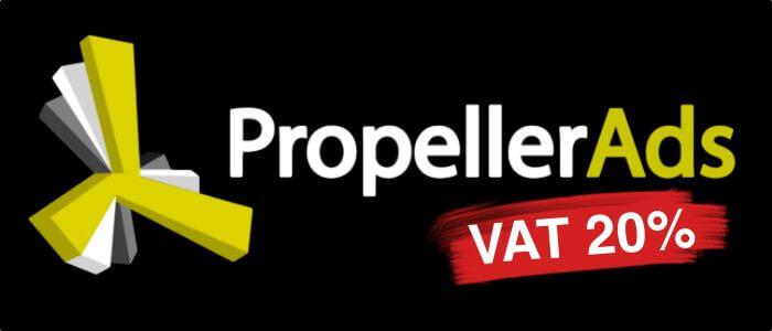 Обходим 20% НДС в Propeller Ads